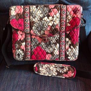Vera Bradley - Laptop Messenger Bag! Mocha Rouge